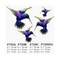 Lge Metal Humming Bird (Blue)