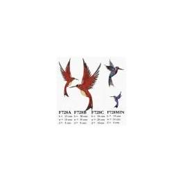 Metal Wal lHuming Bird (Red)