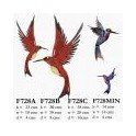 Metal wall Humming Bird (Red)  36 x30 x8deep