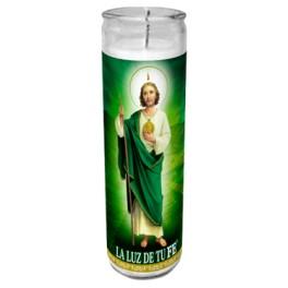 San Judas Tadeo Candle 20cm x 5cm W